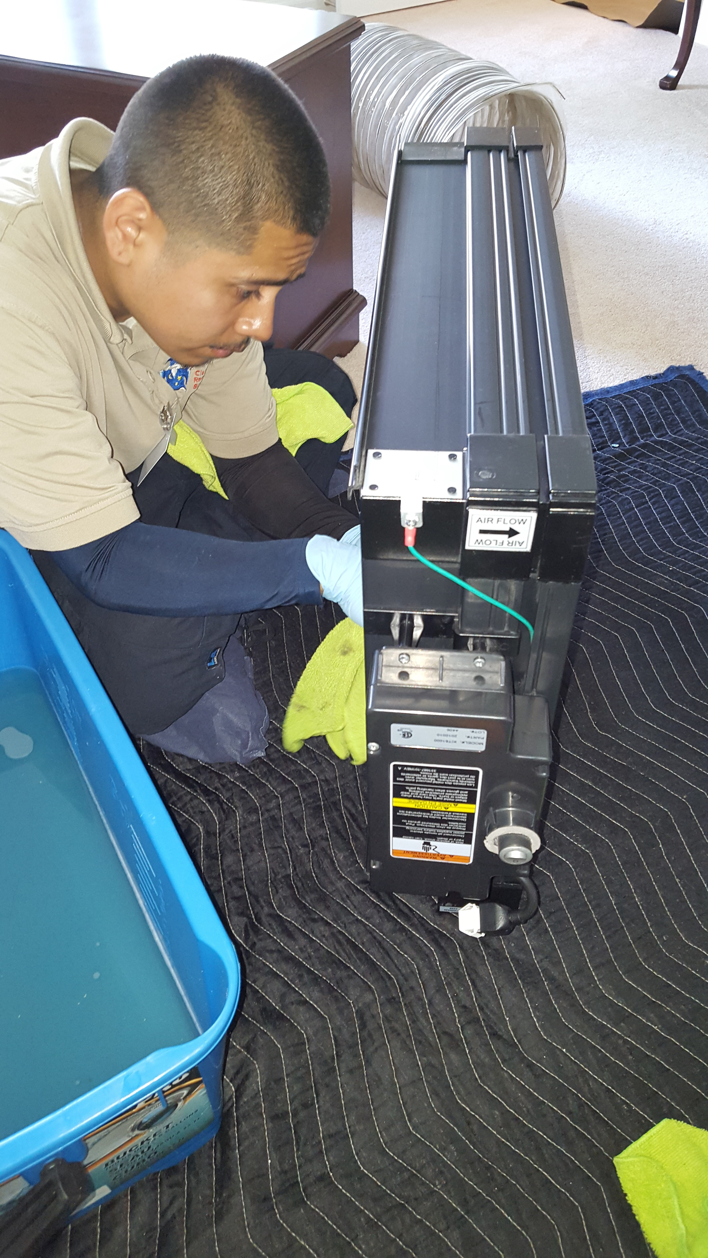 Air Duct Electric Filter Cleaning