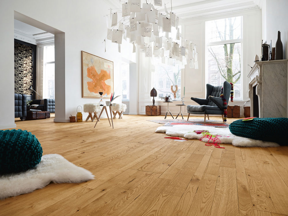 Pine in natural tone wood floors